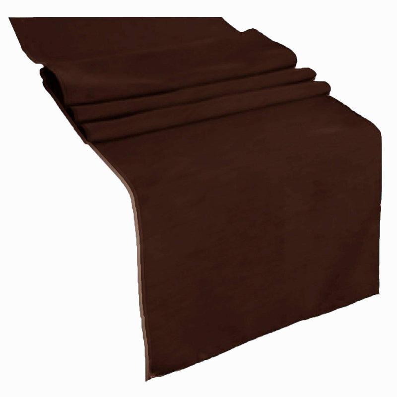 Table Runner ( Brown ) Polyester 12x72 Inches Great Quality Tablecloth for all Occasions