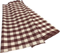 Checkered Poplin - Burgundy - Polyester Poplin Flat Fold Solid Color 60