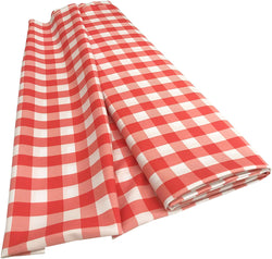 Checkered Poplin - Coral - Polyester Poplin Flat Fold Solid Color 60