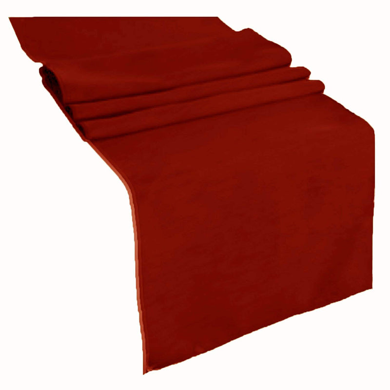Table Runner ( Cranberry ) Polyester 12x72 Inches Great Quality Tablecloth for all Occasions