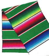 Mexican Sarape - Emerald Green - Table Runner 14