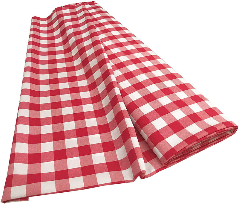 Checkered Poplin - Fuchsia - Polyester Poplin Flat Fold Solid Color 60