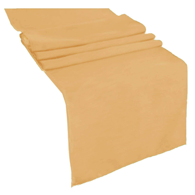 Table Runner ( Gold ) Polyester 12x72 Inches Great Quality Tablecloth for all Occasions