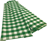 Checkered Poplin - Green - Polyester Poplin Flat Fold Solid Color 60