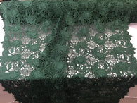 Guipure Lace Fabric - Hunter Green - Embroidered Bridal Wedding Dress Design Sold By The Yard