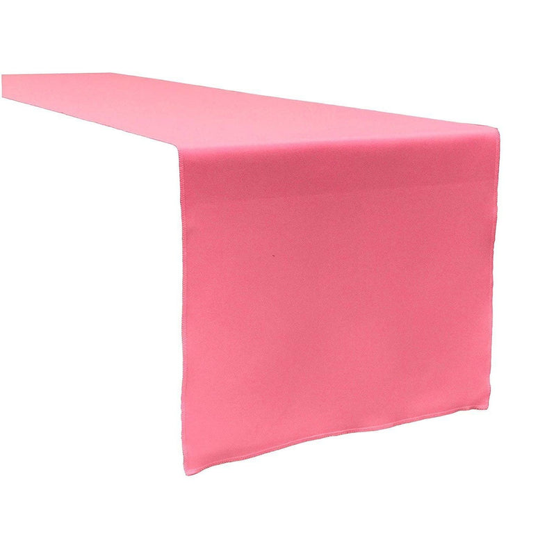 Table Runner ( Hot Pink ) Polyester 12x72 Inches Great Quality Tablecloth for all Occasions