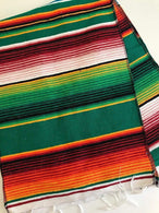 Mexican Sarape - Hunter Green - Table Runner 14
