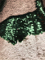 Sequins Fabric HUNTER GREEN/Mate CHAMPAGNE Sequins Flip Up Sequins Reversible Nightgowns By The Yard