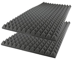 Foam Acoustic Panel Absorption 2 Pack  Pyramid 96