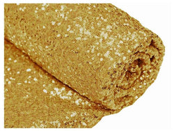Mini Glitz Sequins - Yellow Gold - 2 Way Stretch Shiny Sequins Mesh Fabric Sold By The Yard