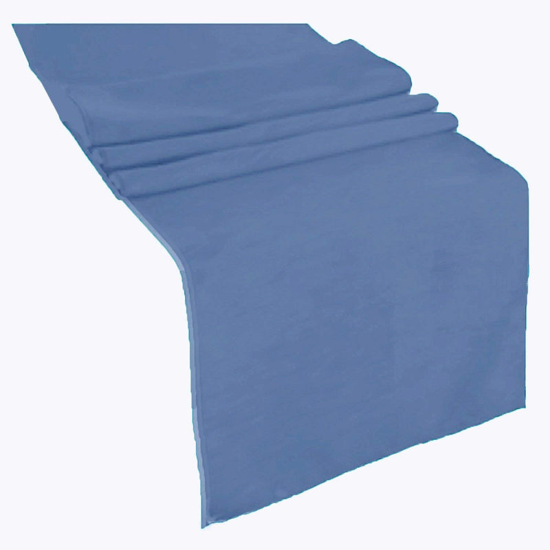 Table Runner ( Steel Blue ) Polyester 12x72 Inches Great Quality Tablecloth for all Occasions