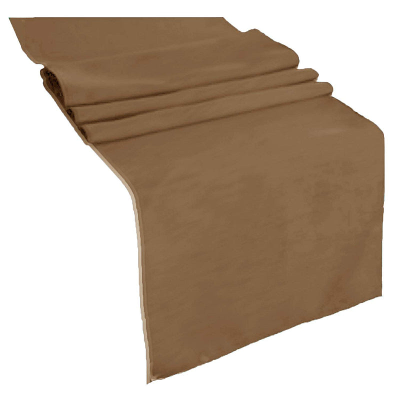Table Runner ( Coffee ) Polyester 12x72 Inches Great Quality Tablecloth for all Occasions