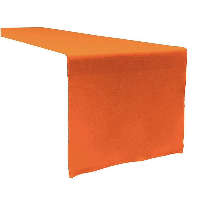 Table Runner ( Orange ) Polyester 12x72 Inches Great Quality Tablecloth for all Occasions