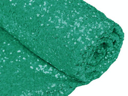 Mini Glitz Sequins - Green - 2 Way Stretch Shiny Sequins Mesh Fabric Sold By The Yard