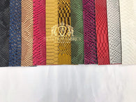 Viper Sopythana Embossed Snake Skin Vinyl Leather Fabric -11 COLORS -Sold By The Yard 52
