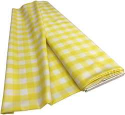Checkered Poplin - Light Yellow - Polyester Poplin Flat Fold Solid Color 60