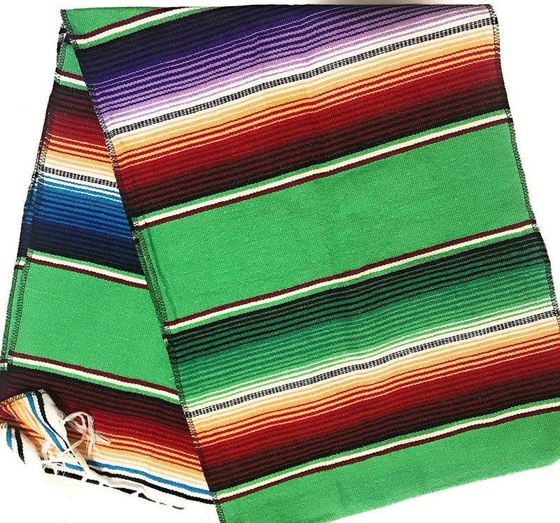 Mexican Sarape - Lime - Table Runner 14