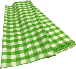 Checkered Poplin - Lime - Polyester Poplin Flat Fold Solid Color 60