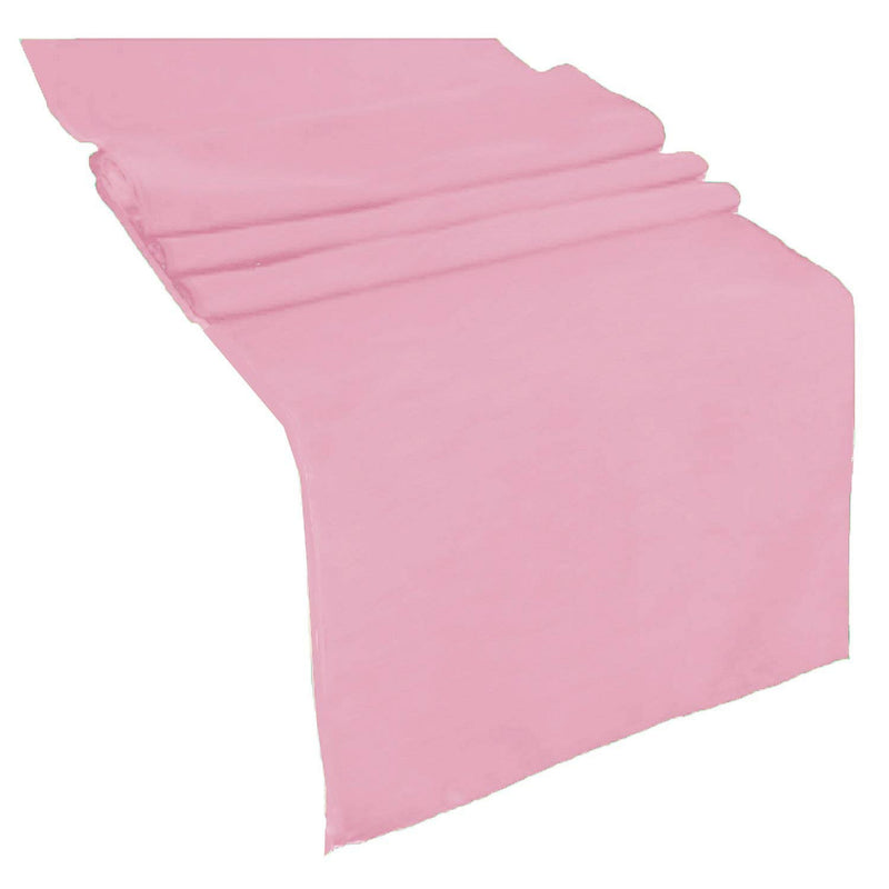 Table Runner ( Med Pink ) Polyester 12x72 Inches Great Quality Tablecloth for all Occasions