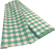 Checkered Poplin - Mint  - Polyester Poplin Flat Fold Solid Color 60