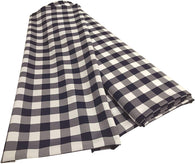 Checkered Poplin - Navy Blue - Polyester Poplin Flat Fold Solid Color 60