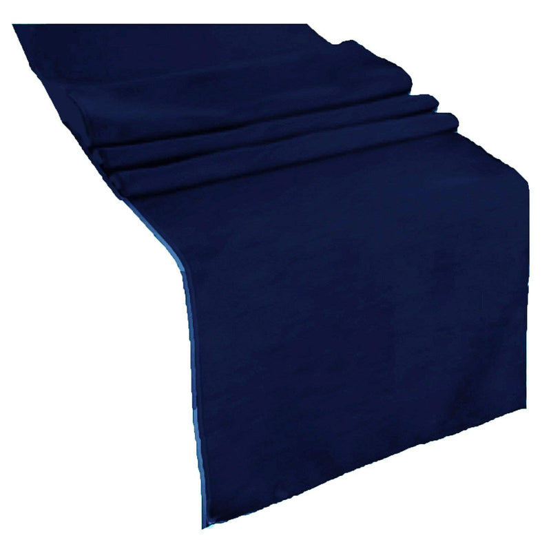 Table Runner ( Navy Blue ) Polyester 12x72 Inches Great Quality Tablecloth for all Occasions