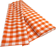 Checkered Poplin - Orange - Polyester Poplin Flat Fold Solid Color 60