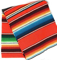 Mexican Sarape - Orange - Table Runner 14