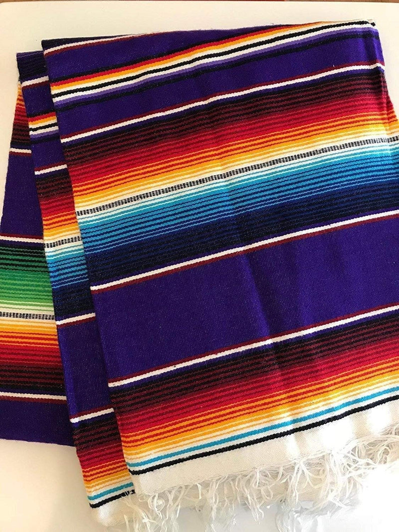 Mexican Sarape - Purple - Table Runner 14