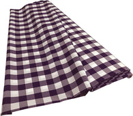 Checkered Poplin - Purple - Polyester Poplin Flat Fold Solid Color 60