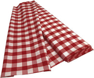 Checkered Poplin - Red - Polyester Poplin Flat Fold Solid Color 60