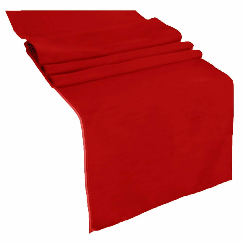 Table Runner ( Red ) Polyester 12x72 Inches Great Quality Tablecloth for all Occasions
