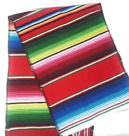 Mexican Sarape - Red - Table Runner 14