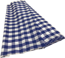 Checkered Poplin - Royal Blue - Polyester Poplin Flat Fold Solid Color 60