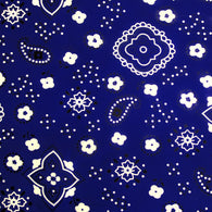 50 Yards Poly Cotton Print Bandana 60 Inch Fabric  - Fabric Bandana Print