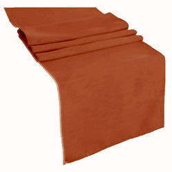 Table Runner ( Rust ) Polyester 12x72 Inches Great Quality Tablecloth for all Occasions