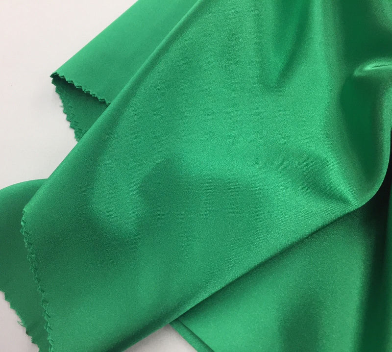Green 60 inch 2 Way Stretch Charmeuse Satin-Super Soft Silky Satin - By The Yard