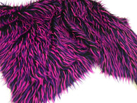 Faux Fur Fabric - Purple and Magenta Decoration Soft Furry Spikes Fabric 60