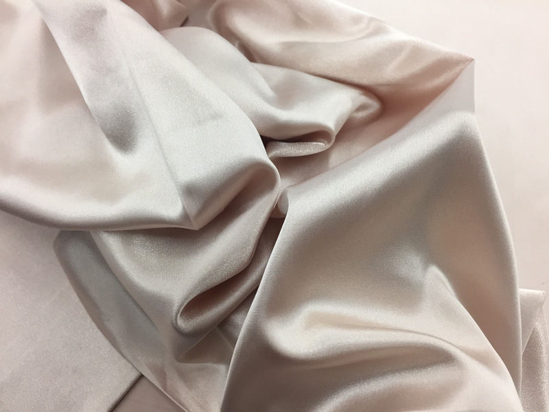 Champagne 60 inch 2 Way Stretch Charmeuse Satin-Super Soft Silky Satin By The Yard.
