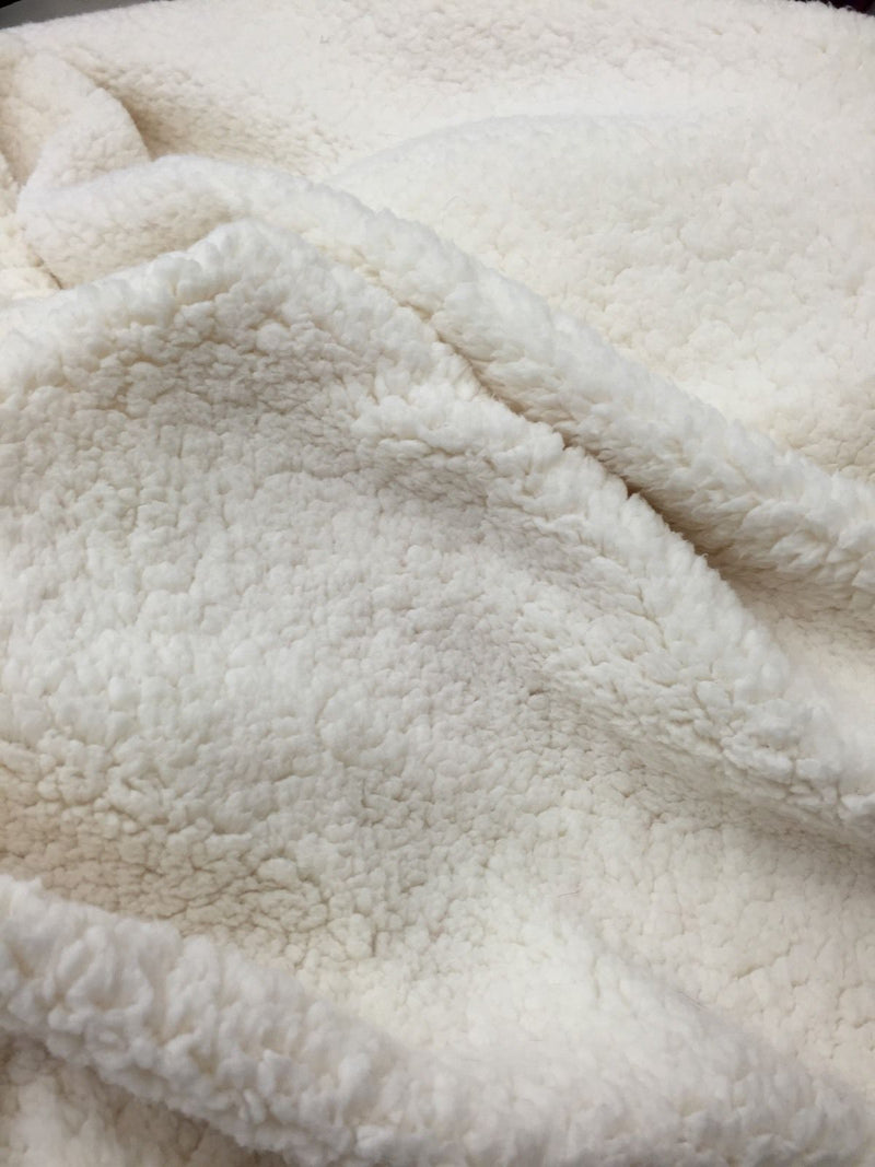 Lamb Wool Duster - Ivory Cuddle Minky Sherpa 61