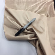 KHAKI 60 inch 2 Way Stretch Charmeuse Satin-Super Soft Silky Satin - By The Yard