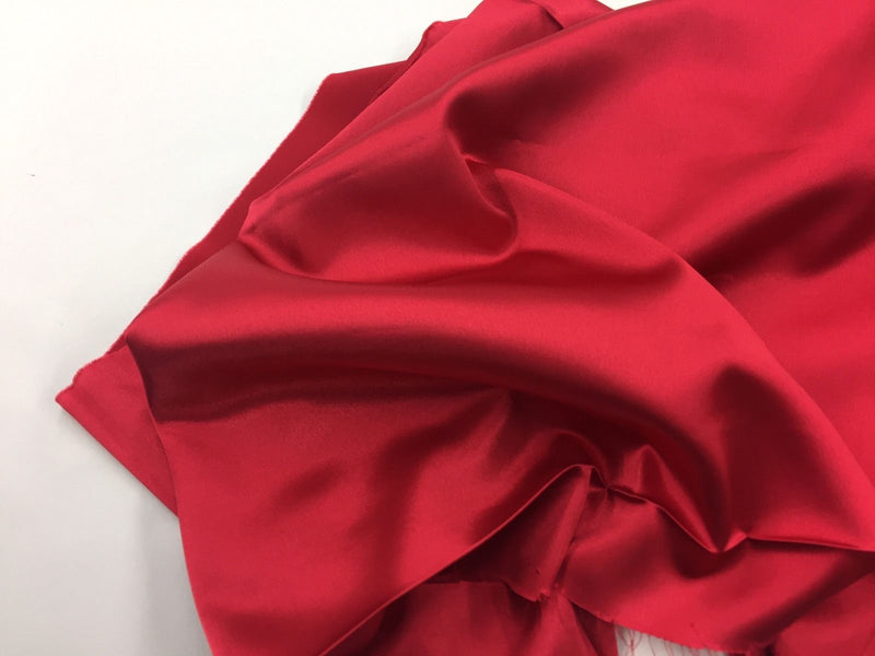 RED 60 inch 2 Way Stretch Charmeuse Satin-Super Soft Silky Satin - By The Yard