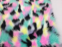Faux Fur Fabric - Multi-Color Decoration Soft Furry Fabric -  60