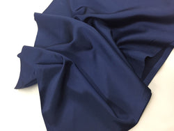 Navy Blue 60 inch 2 Way Stretch Charmeuse Satin-Super Soft Silky Satin - By The Yard