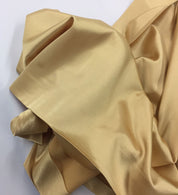 GOLD 60 inch 2 Way Stretch Charmeuse Satin-Super Soft Silky Satin - By The Yard