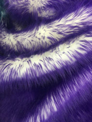 Faux Fur Fabric - Purple and Ivory Multi-Color Decoration Soft Furry Fabric 60