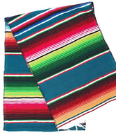 Mexican Sarape - Teal - Table Runner 14