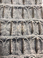 Gray Crocodile Faux Fake Leather Vinyl Fabric 3D Scales Vinyl Crocodile Sold By The Yard