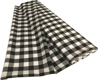Checkered Poplin - Black and White - Polyester Poplin Flat Fold Solid Color 60