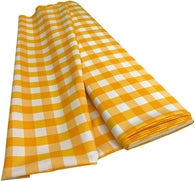 Checkered Poplin - Yellow - Polyester Poplin Flat Fold Solid Color 60